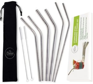 chefast stainless steel straws
